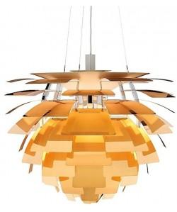 Lámpara ARTIC, aluminio, dorada, 70 cms. de diámetro