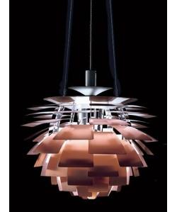 Lámpara ARTIC, aluminio, cobre, 48 cms. de diámetro