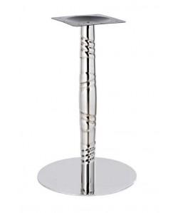 Base de mesa LUXOR, acero inoxidable, 45*72 cms, acabado espejo