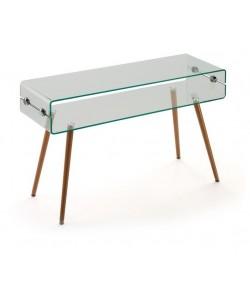 Consola HOLANDA-120TR, madera, cristal, 120x40 cms
