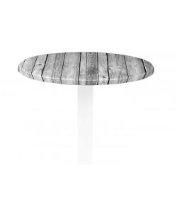 Tablero de mesa Werzalit Alemania, ANTIQUE WHITE 202, 60 cms de diámetro*.